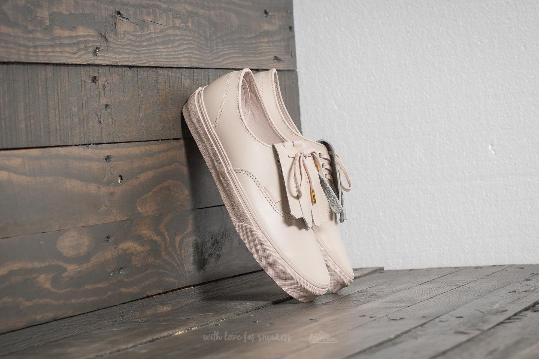 b9ef401809e Lyst - Vans Authentic Fringe (leather) Whisper Pink  Gold