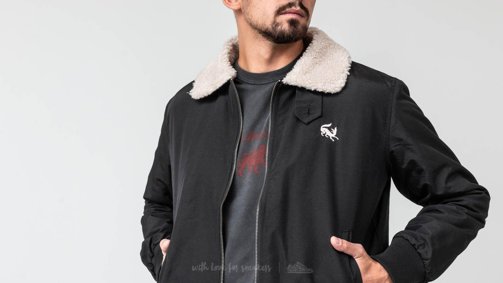 Lyst - Footshop By Parra Topper Harley Scared Fox Jacket Black in ... 92c6573a0