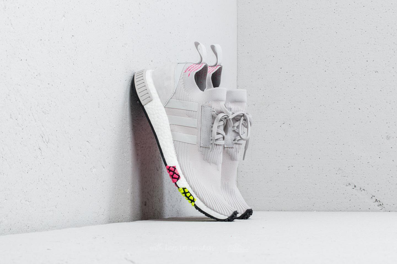 adidas nmd racer pk grey one solar pink