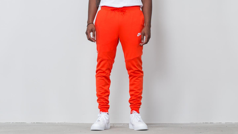 4c62b6c27f1f Lyst - Nike Sportswear Tech Icon Jogger Team Orange  White in Orange ...