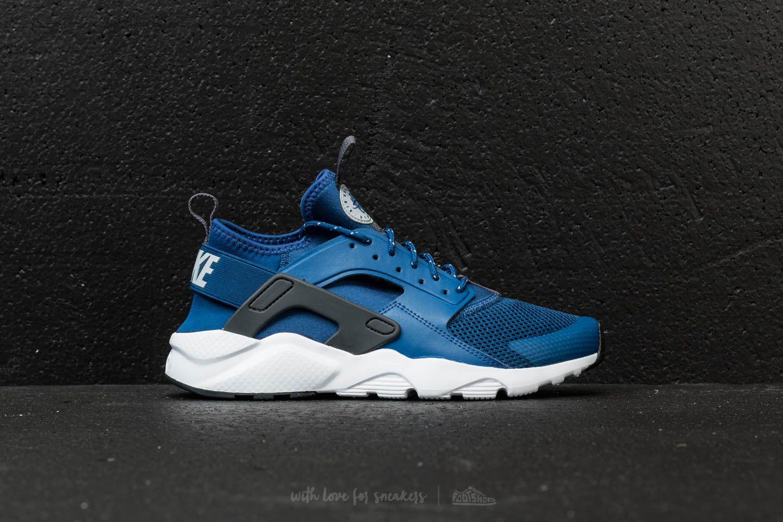 official photos 8c98a 3d1cc Lyst - Nike Air Huarache Run Ultra (gs) Gym Blue  Wolf Grey-white in ...