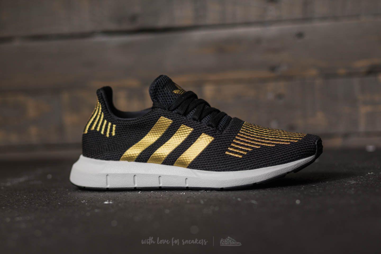 51a89d630c76 Lyst - adidas Originals Adidas Swift Run W Core Black  Gold Metalic ...
