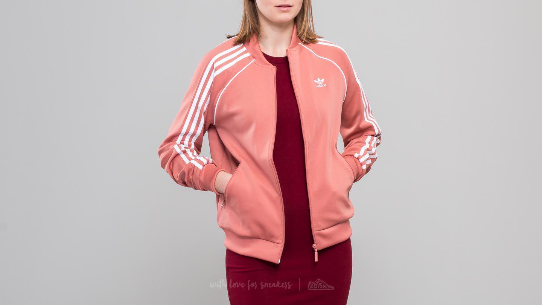 Lyst Adidas Originali Adidas Superstar Traccia Giacca Ash Rosa In Rosa