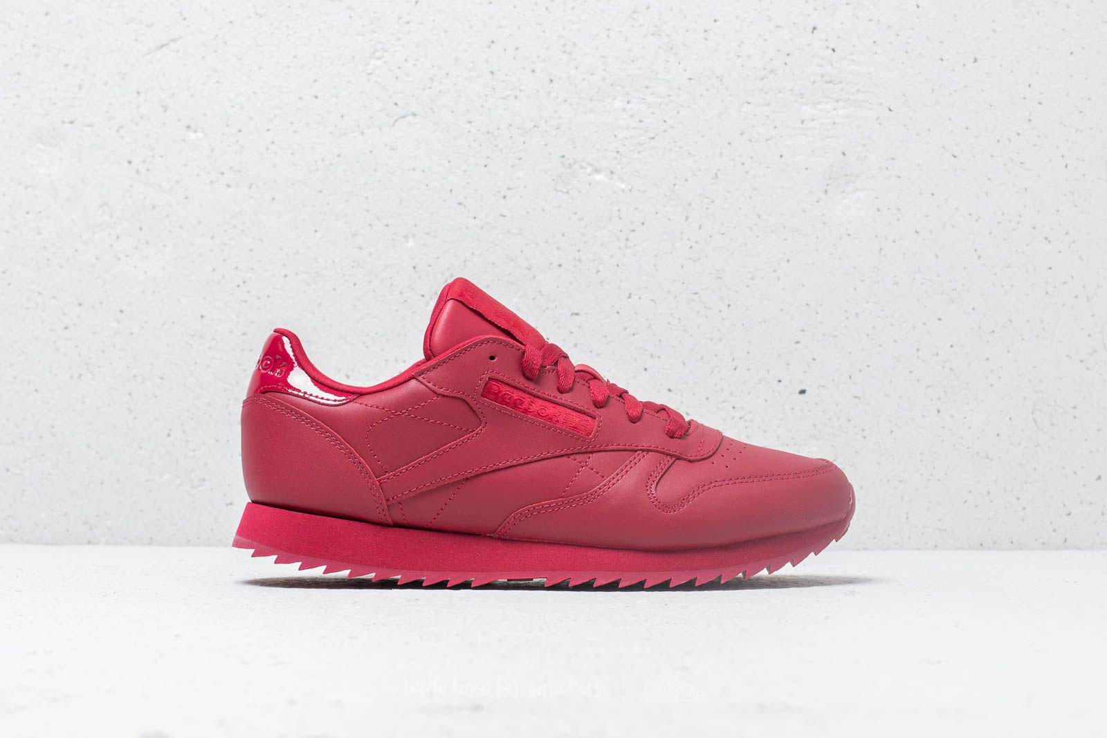 5a1a09c59ef92 Lyst - Reebok Reebok Cl Leather Ripple W Cranberry Red in Red