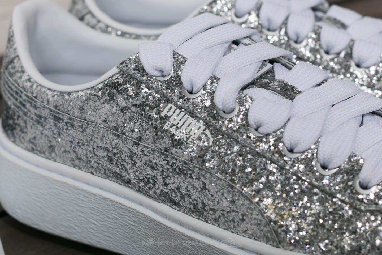 4b4423b223a Lyst - PUMA Basket Platform Glitter Wn s Silver-silver in Metallic