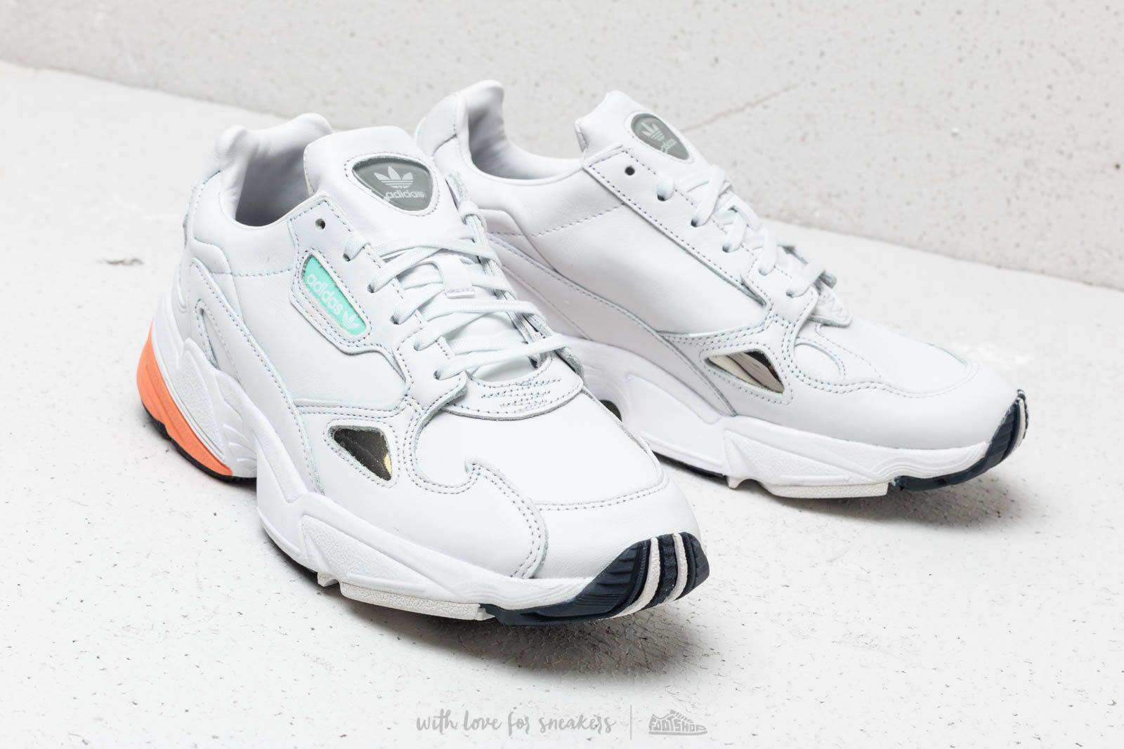 on sale 69f21 09cc7 Adidas Originals - Adidas Falcon W Crystal White Crystal White Easy  Orange - Lyst. View fullscreen