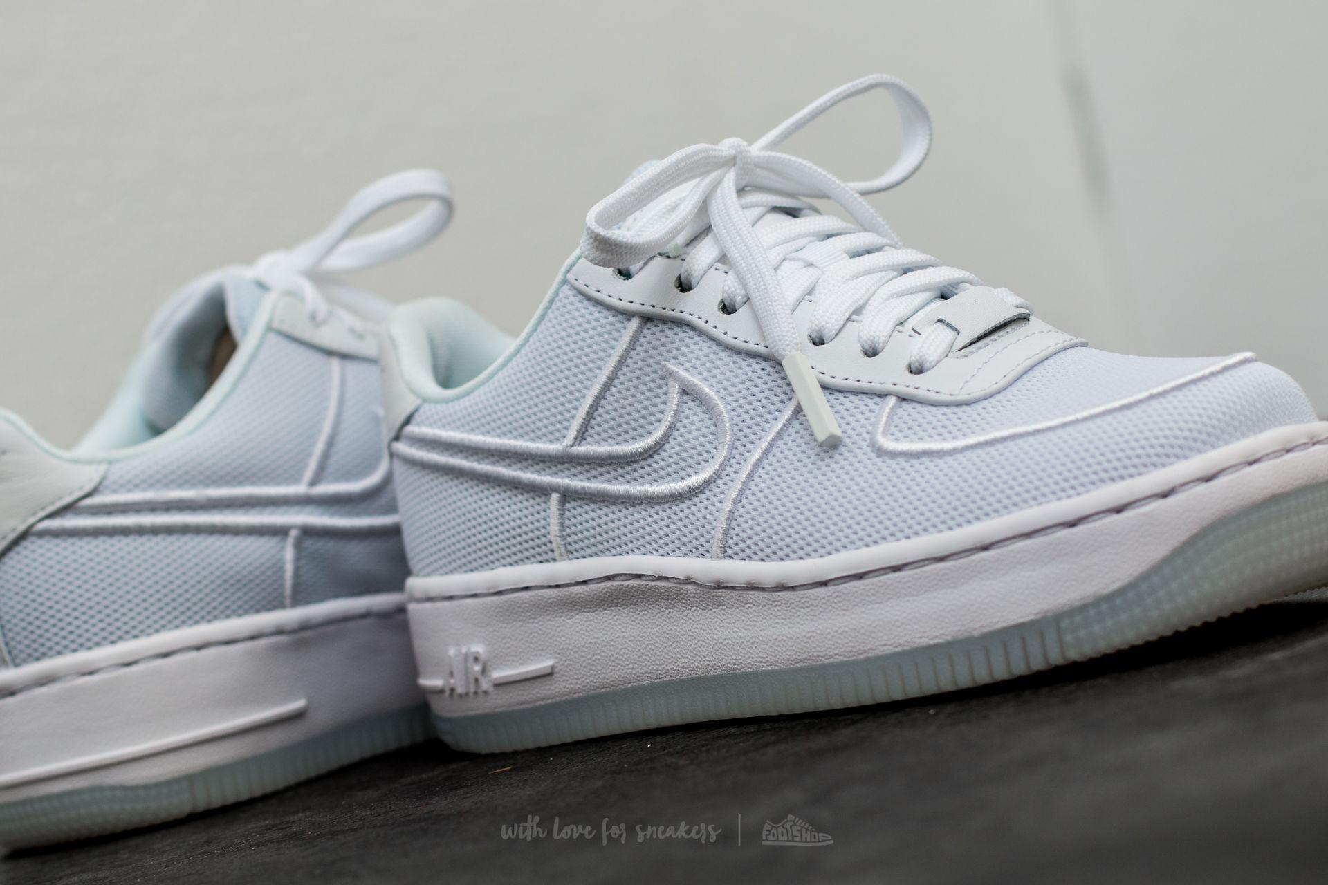 a63f5683eb1a Lyst - Nike W Air Force 1 Low Upstep Br White  White-glacier Blue in ...