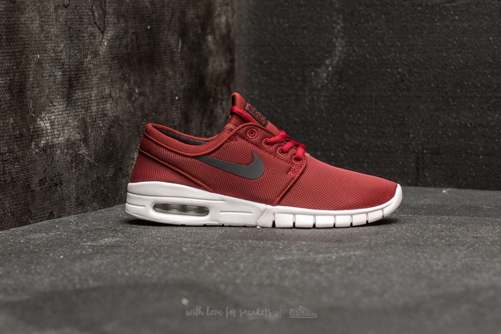 0ac2eba2a738 Lyst - Nike Stefan Janoski Max (gs) Dark Team Red  Black-white in Red