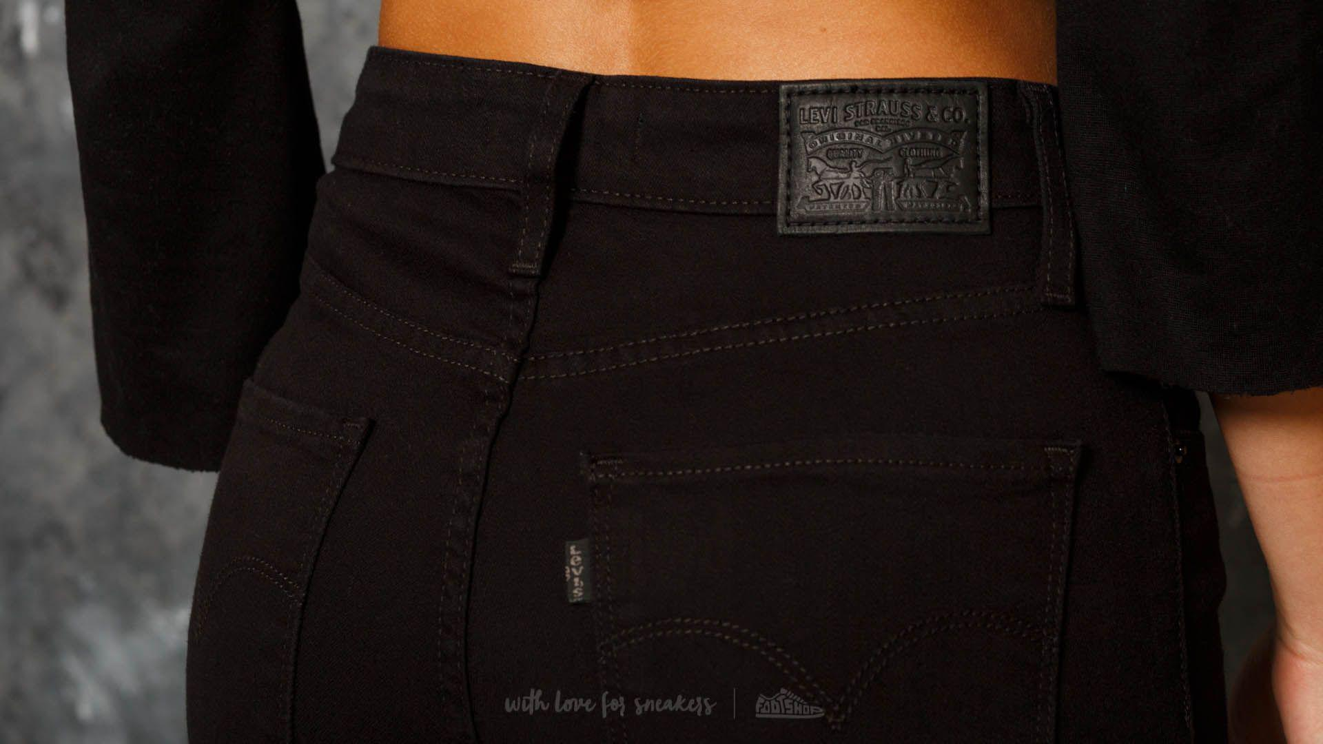 537fc4dfe Lyst - Footshop Levi s® 721 High Rise Skinny Jeans Black Sheep in Black