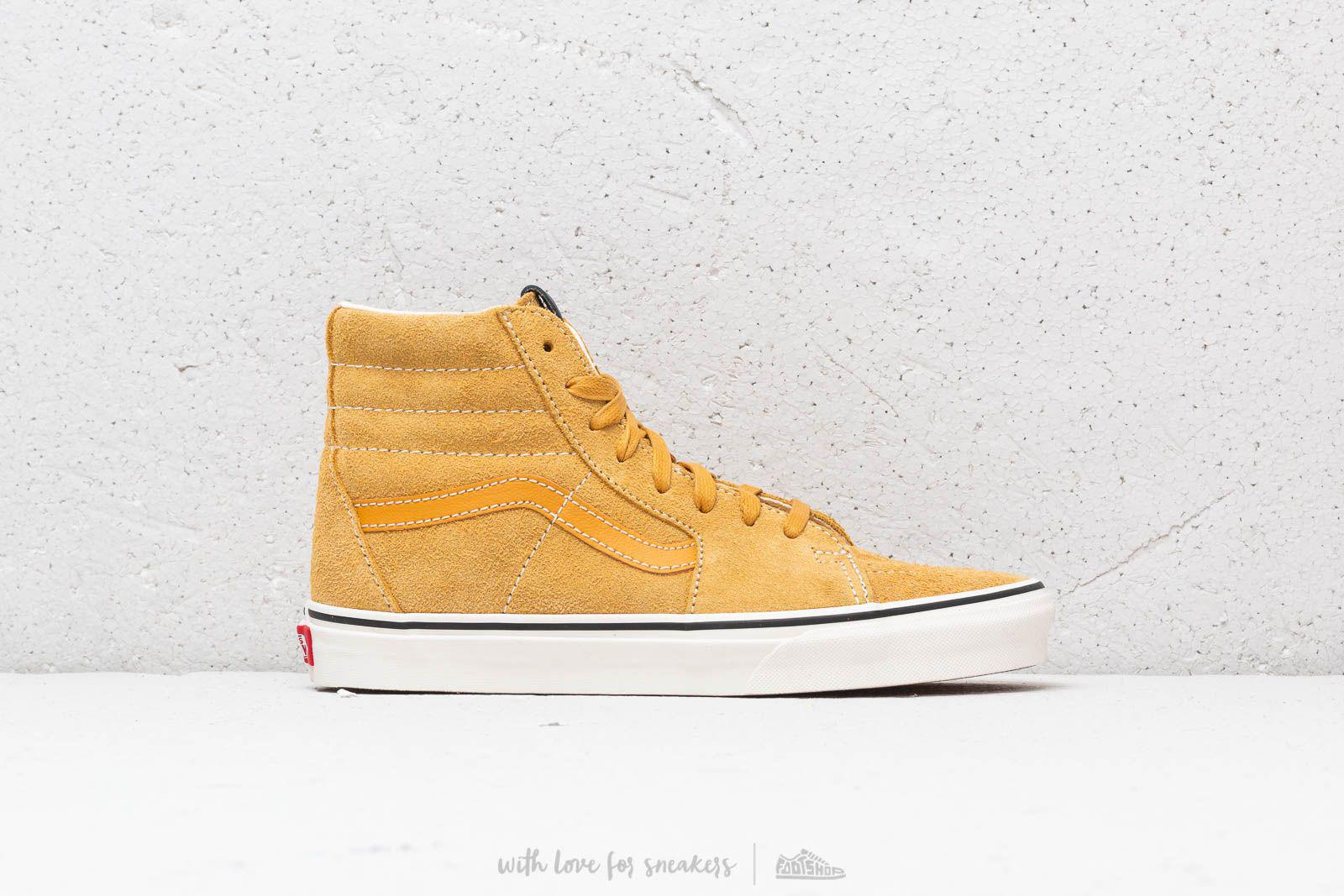 Vans - Sk8-hi (hairy Suede) Sunflower  Snow White for Men -. View fullscreen 46c11c92a