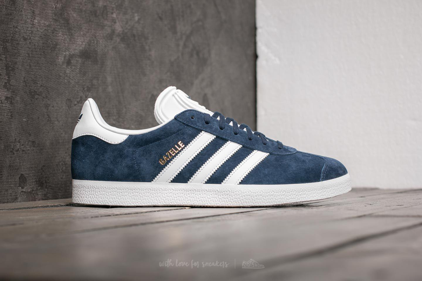 new style 3c26c 23f36 Lyst - adidas Originals Adidas Gazelle Core Navy White Gold