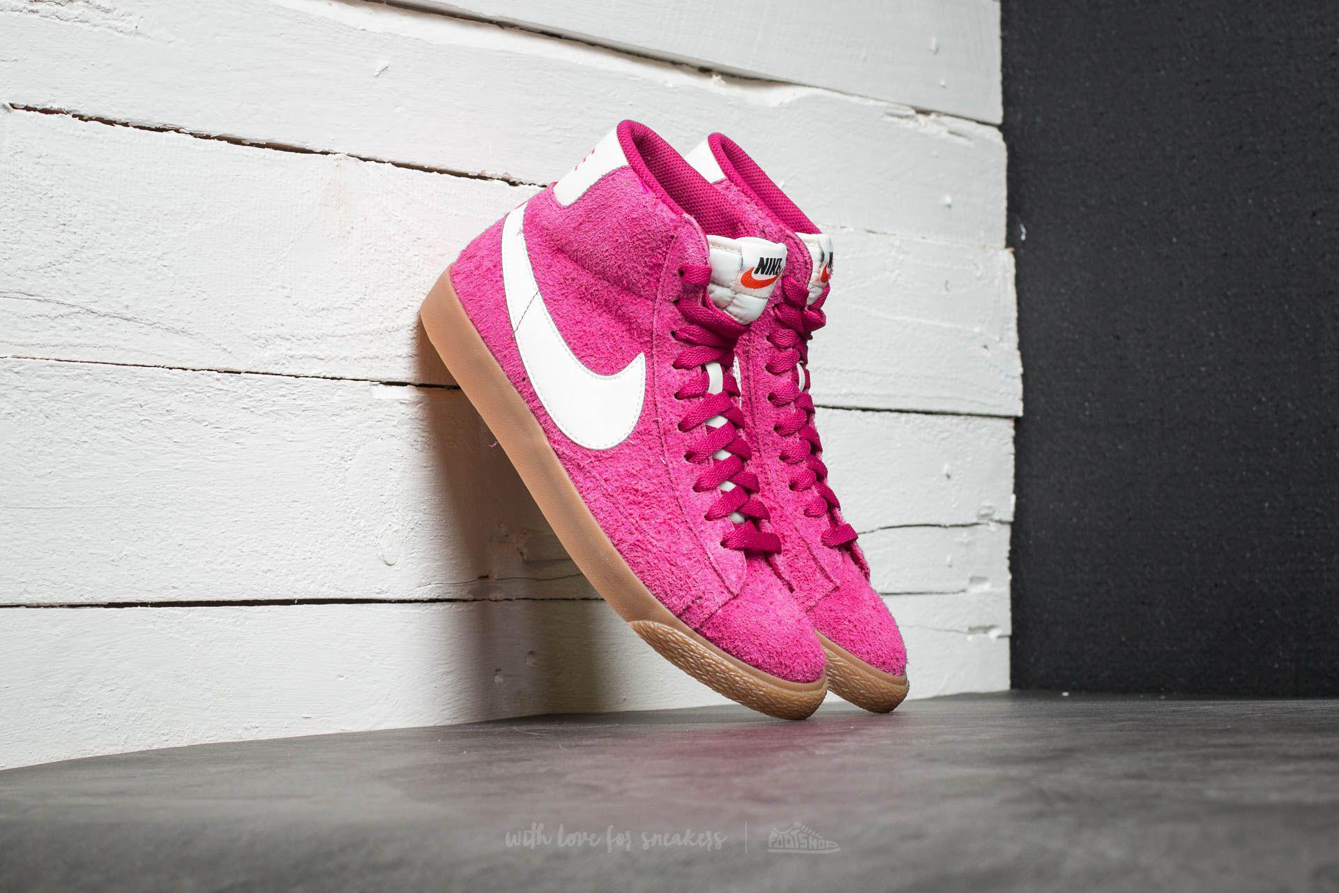 online store 0ce3c 88116 Nike Wmns Blazer Mid Suede Vintage Sport Fuchsia/ Sail-sail - Lyst