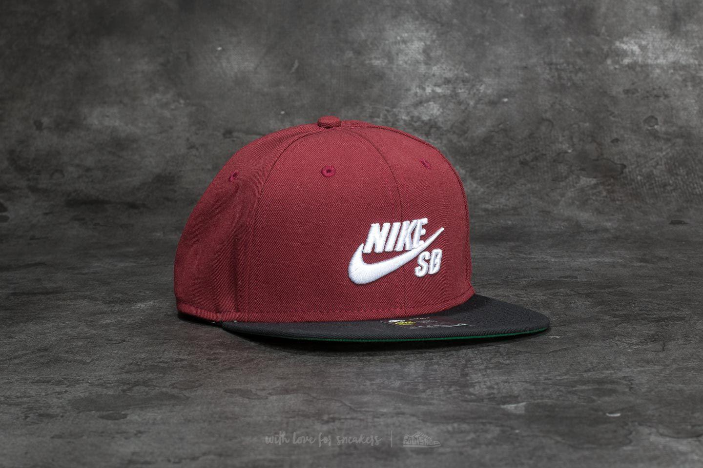 602791ccfc3 Lyst - Nike Sb Icon Pro Cap Dark Team Red  Black  Pine Green  White ...