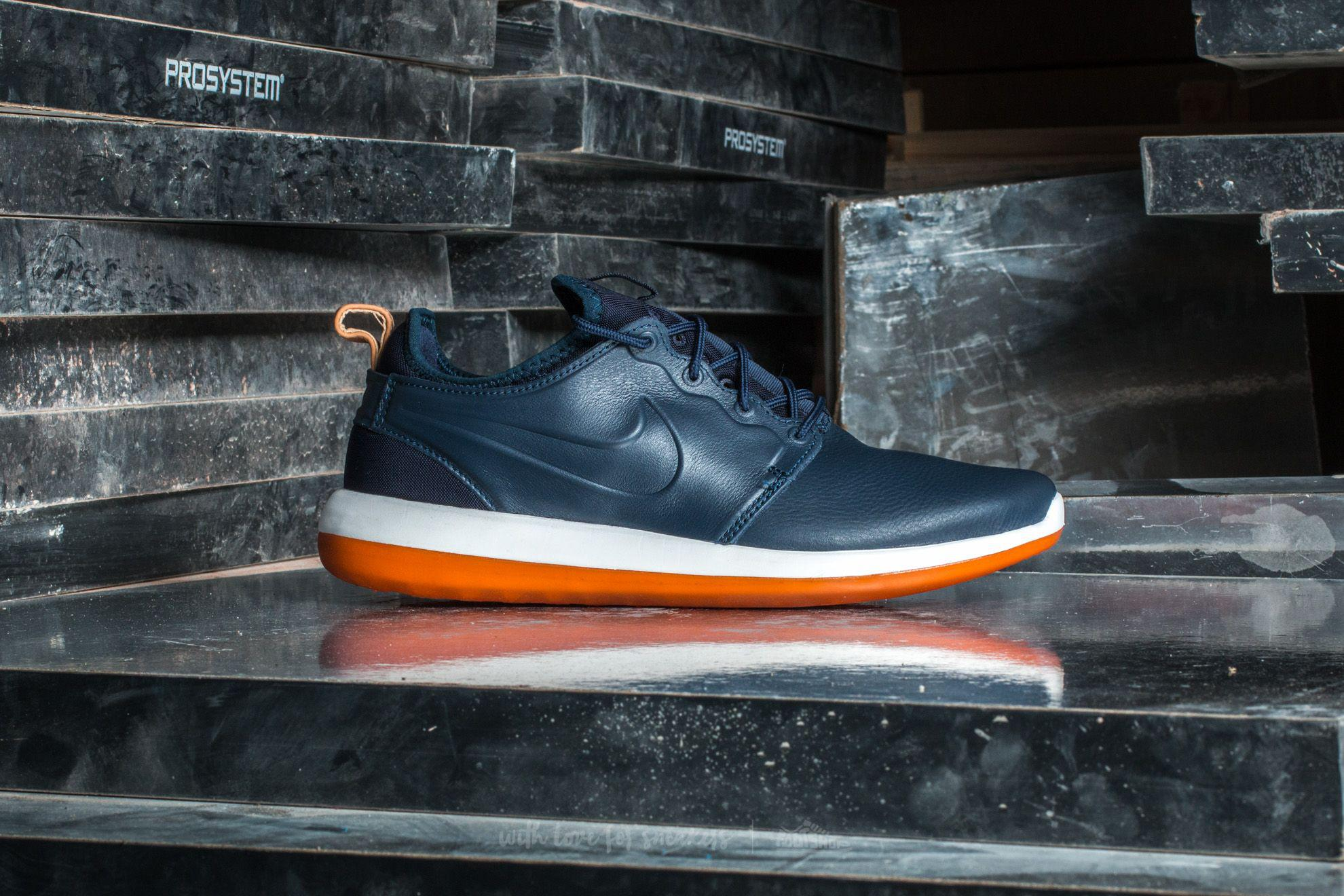 free shipping 81ff0 a3c55 Nike Roshe Two Leather Premium Obsidian  Obsidian-white in Blue for ...
