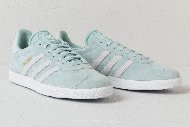 4f3ce52711e1 Lyst - adidas Originals Adidas Gazelle W Ash Green  Ftw White  Blue ...