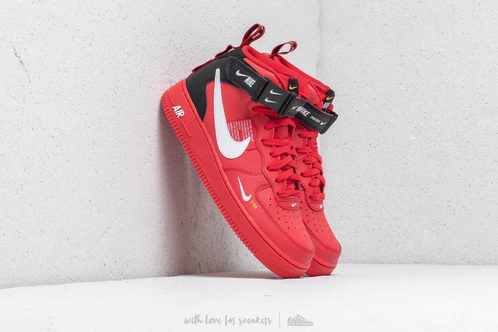 da2ea909b15 Lyst - Nike Air Force 1 Mid  07 Lv8 University Red  White- Black in ...