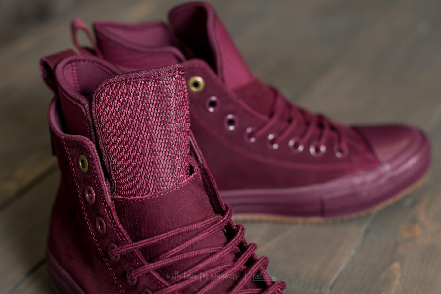 converse all star low leather dark sangria rose gold