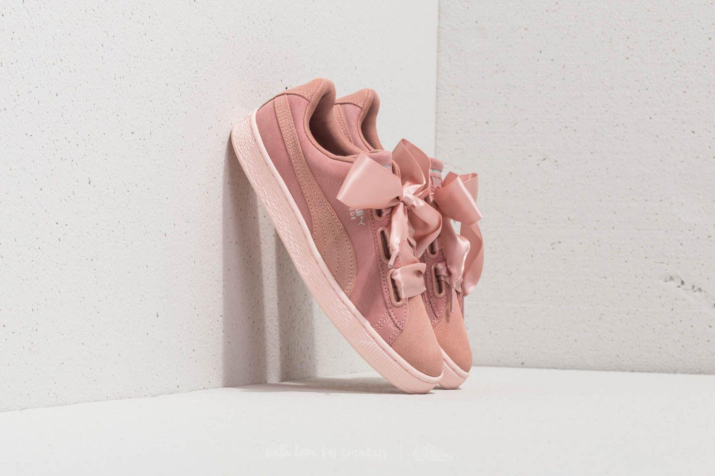 01e0461852c7 Lyst - PUMA Suede Heart Pebble Wn s Peach Beige-pearl in Pink