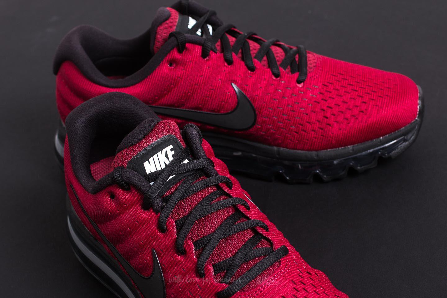 cda1d77bef44 ... top quality lyst nike air max 2017 team red black dark grey in red for  men