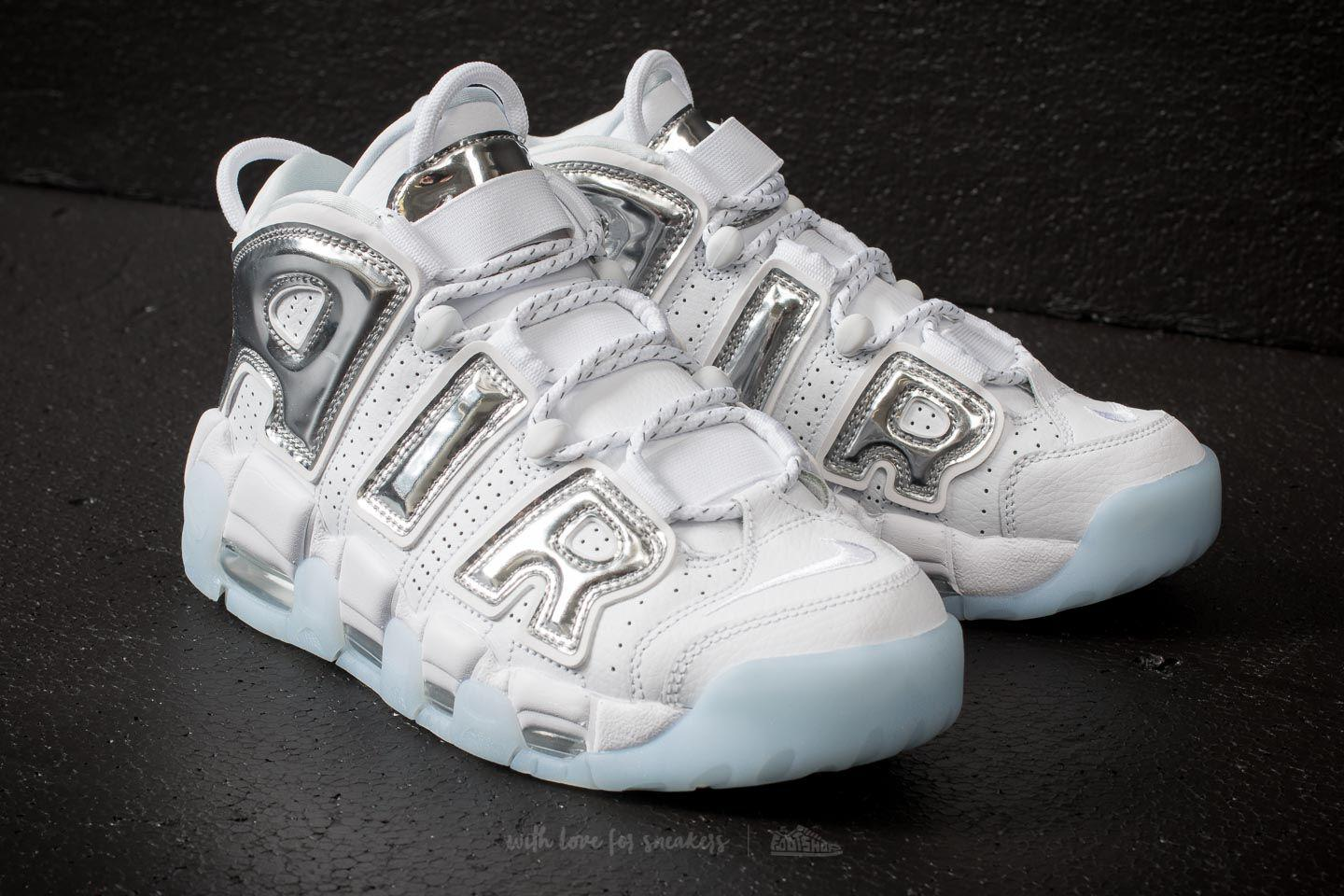 Nike - Multicolor W Air More Uptempo White/ Chrome-blue Tint - Lyst. View  Fullscreen