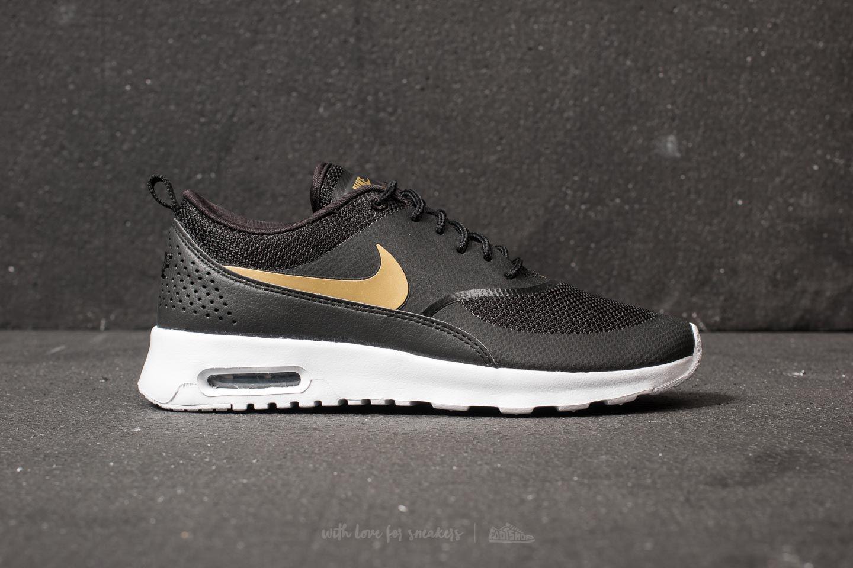 13a168335b Nike Wmns Air Max Thea J Black/ Metallic Gold-white in Metallic - Lyst