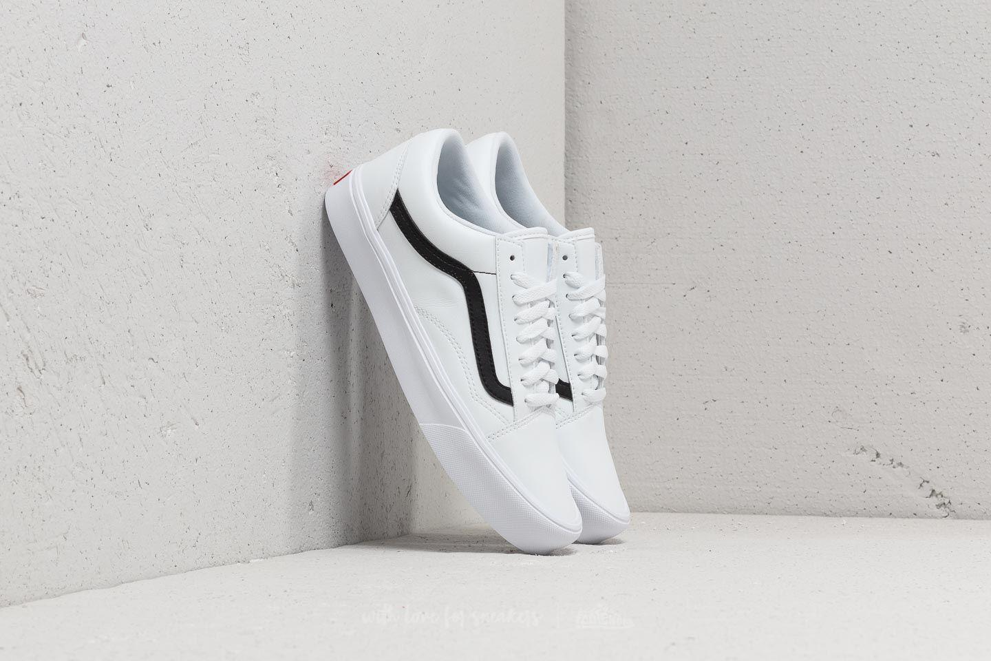 619f78ee6d Lyst - Vans Old Skool Lite (classic Tumble) True White  Black in ...