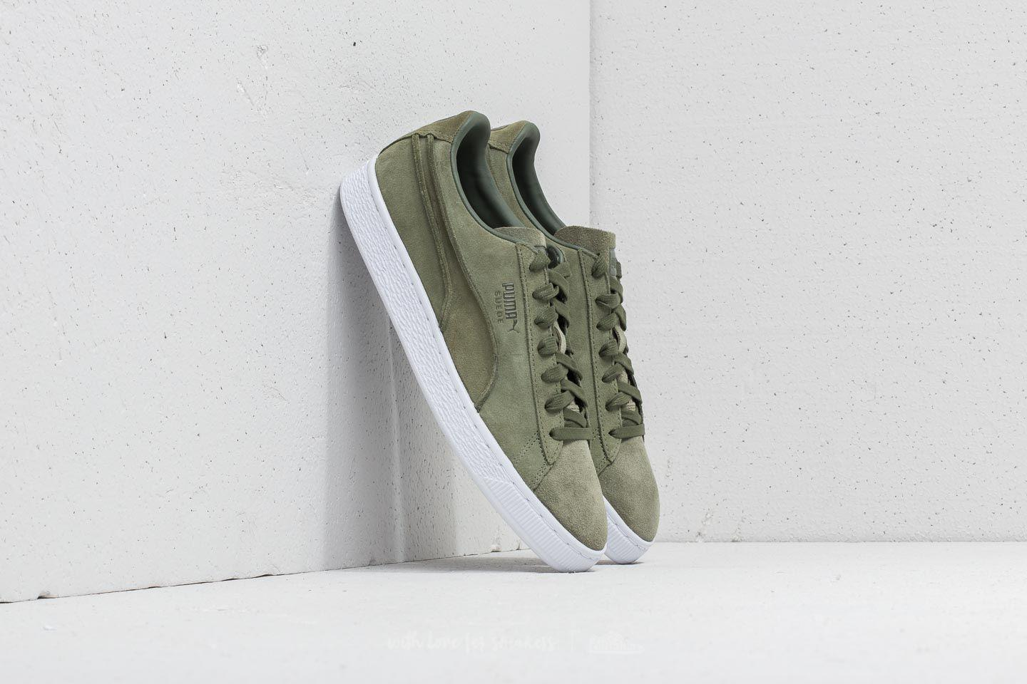 9f9439bacb90 Lyst - PUMA Suede Classic Exposed Seams Capulet Olive in Green for Men