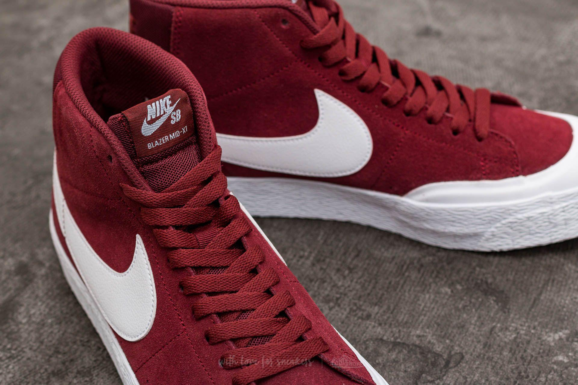 8557fe5e4e9a Lyst - Nike Sb Blazer Zoom Mid Xt Dark Team Red  White in Red for Men