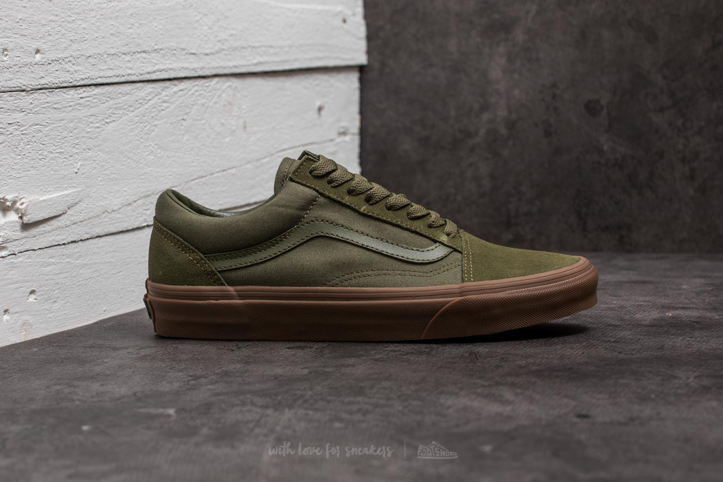 01e17a172c7 Lyst - Vans Old Skool (suede  Canvas) Winter Moss  Green in Green ...