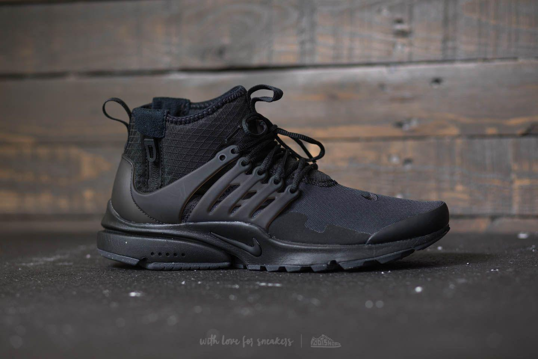63ed0e306cc6 Lyst - Nike Air Presto Mid Utility Black  Black-dark Grey in Black ...