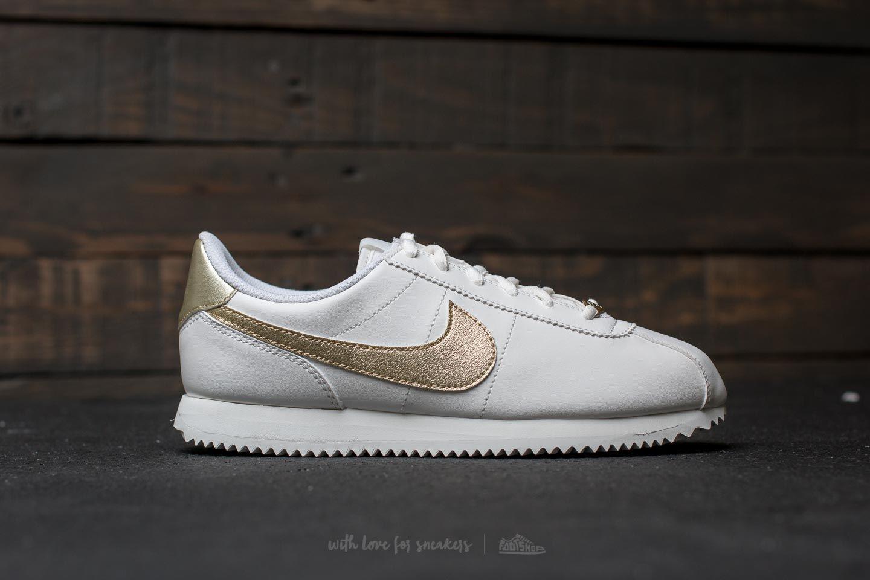 Nike - Multicolor Cortez Basic Sl (gs) Summit White/ Light Gold Star -.  View Fullscreen