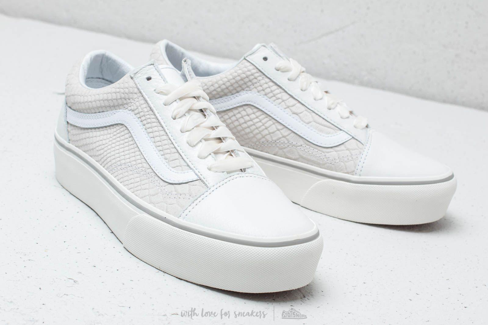 b8c21099725c27 Lyst - Vans Old Skool Platform (leather) Snake  White in White for Men