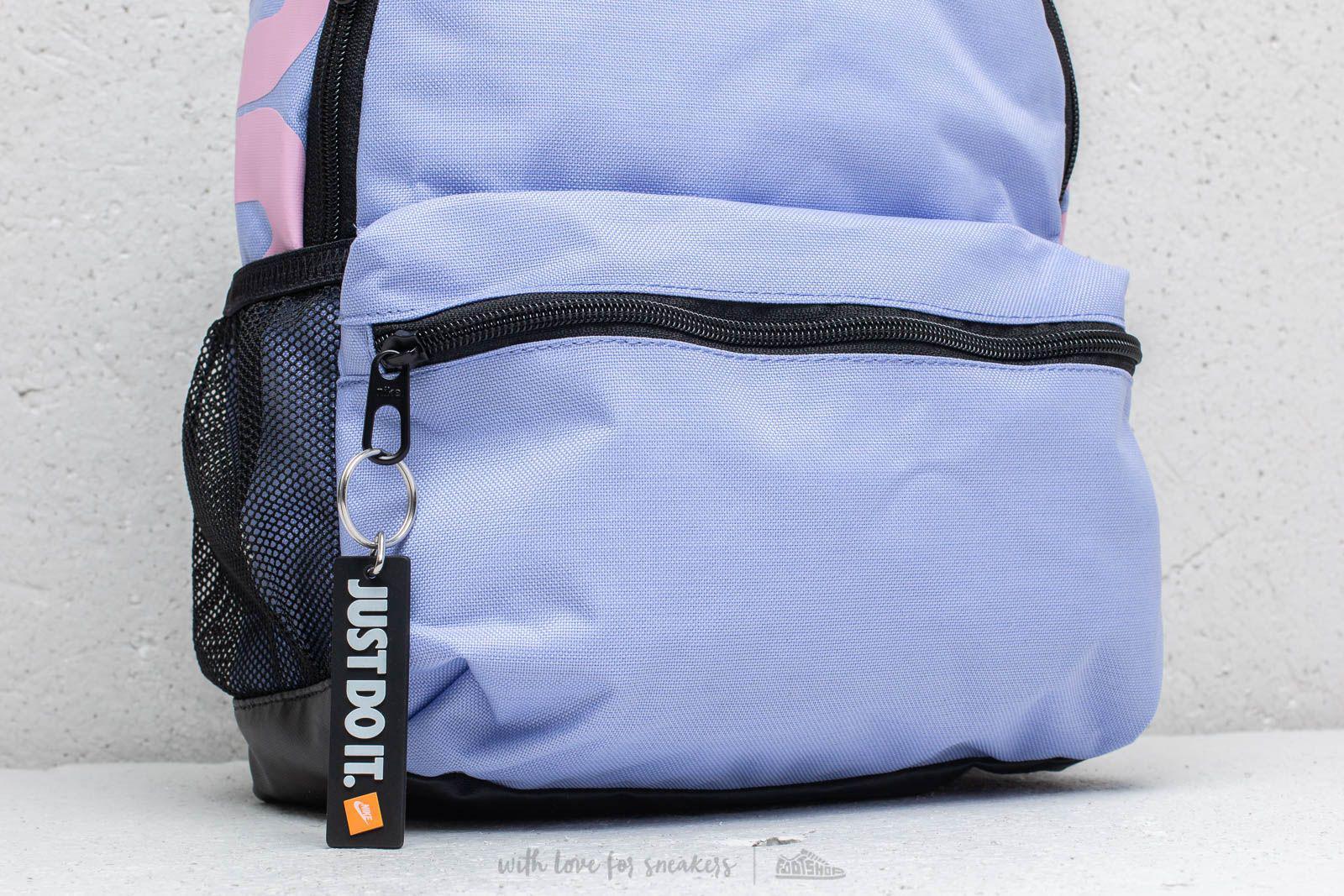 Lyst - Nike Brasilia Just Do It Mini Backpack Purple  Pink in Blue 274bcccca2