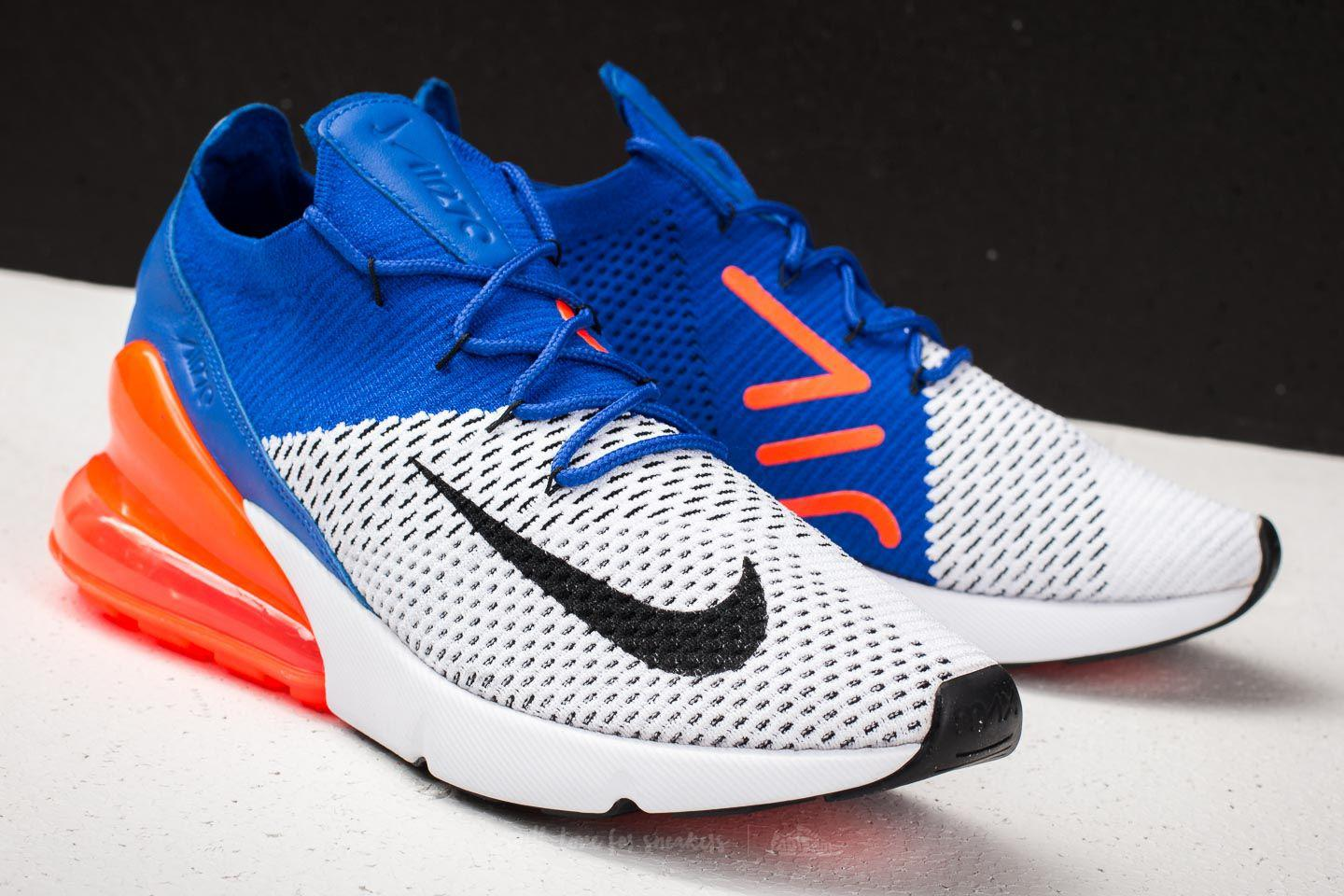 Womens White And Blue Nike 270 Footshop 1d0100b0f8