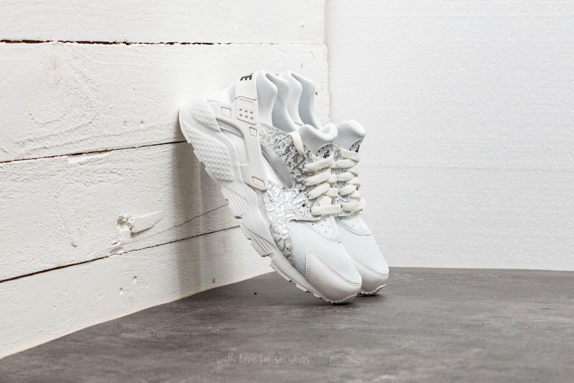 89325bf949b3 Lyst - Nike Huarache Run Se (gs) Summit White  Metallic Silver in ...