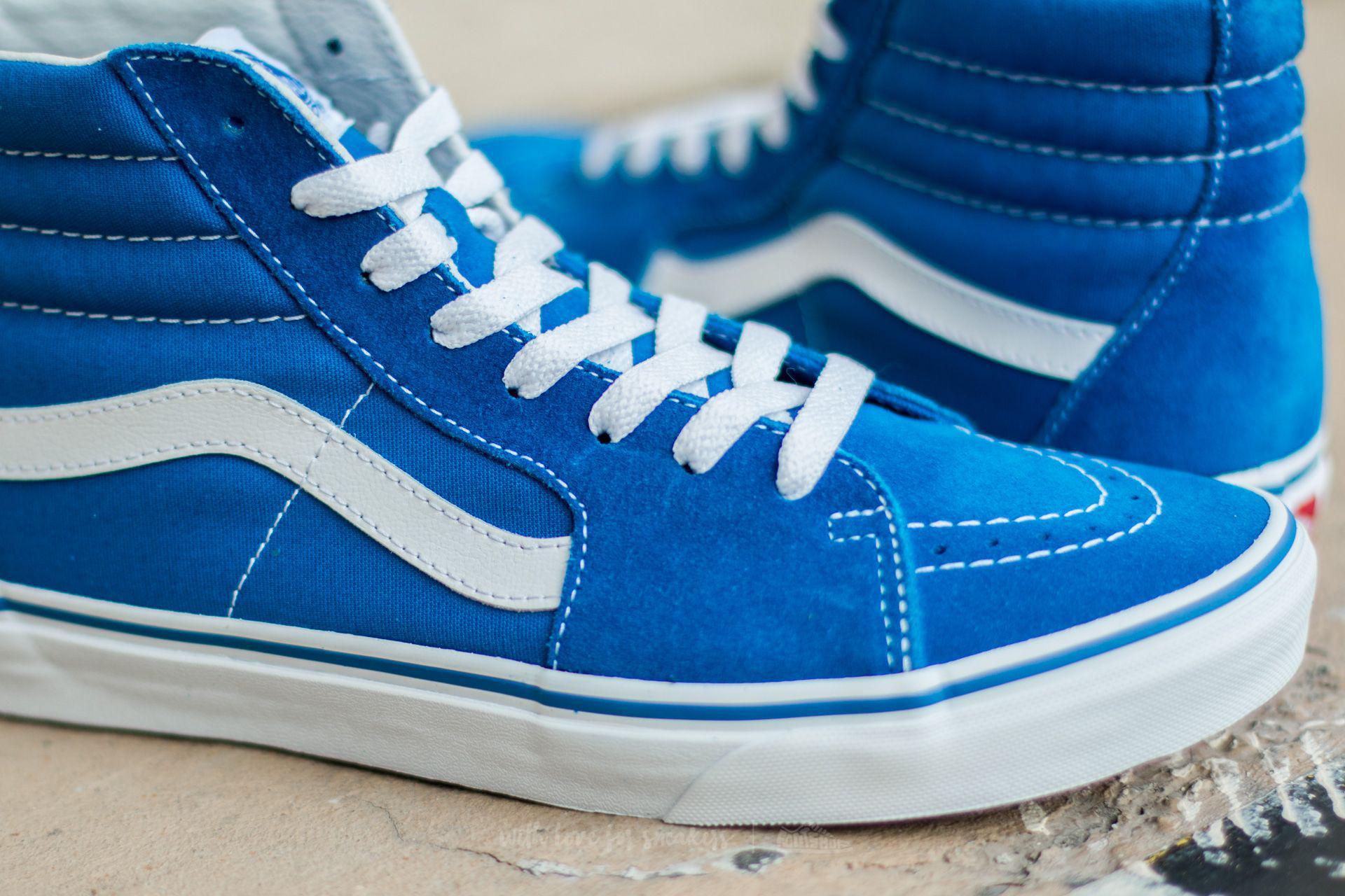 fc3548b6dee18 Vans Sk8-hi (suede/canvas) Imperial Blue in Blue for Men - Lyst