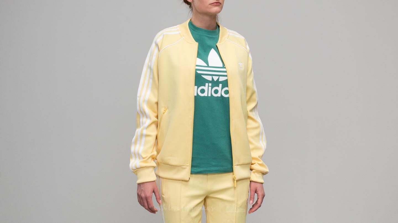 c1362959b06 adidas Originals Adidas Superstar Track Jacket Sand in Yellow - Lyst