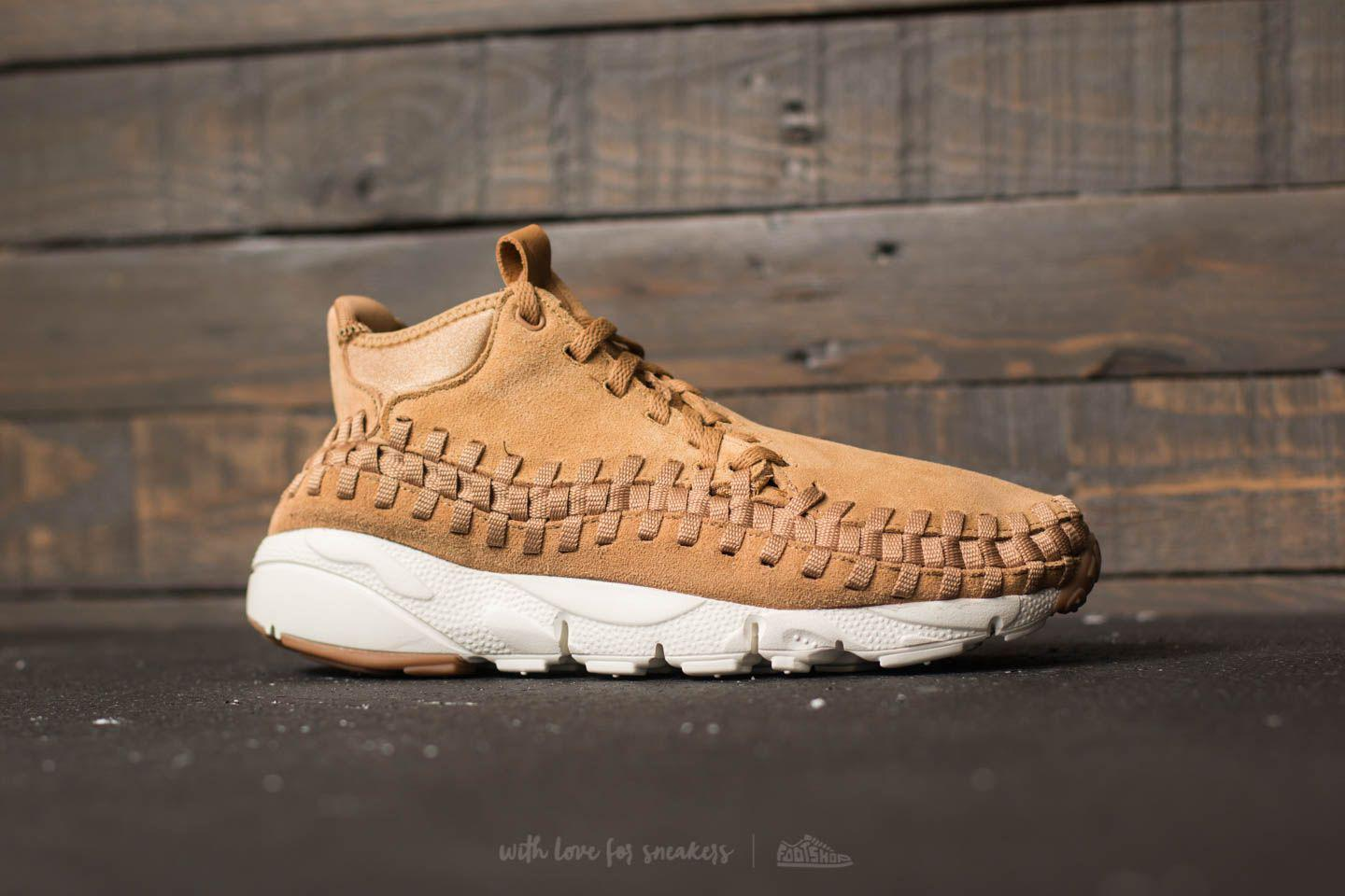 separation shoes e4d9e a1bc5 Nike Air Footscape Woven Chukka Flax  Flax-sail-gum Med Brown in ...