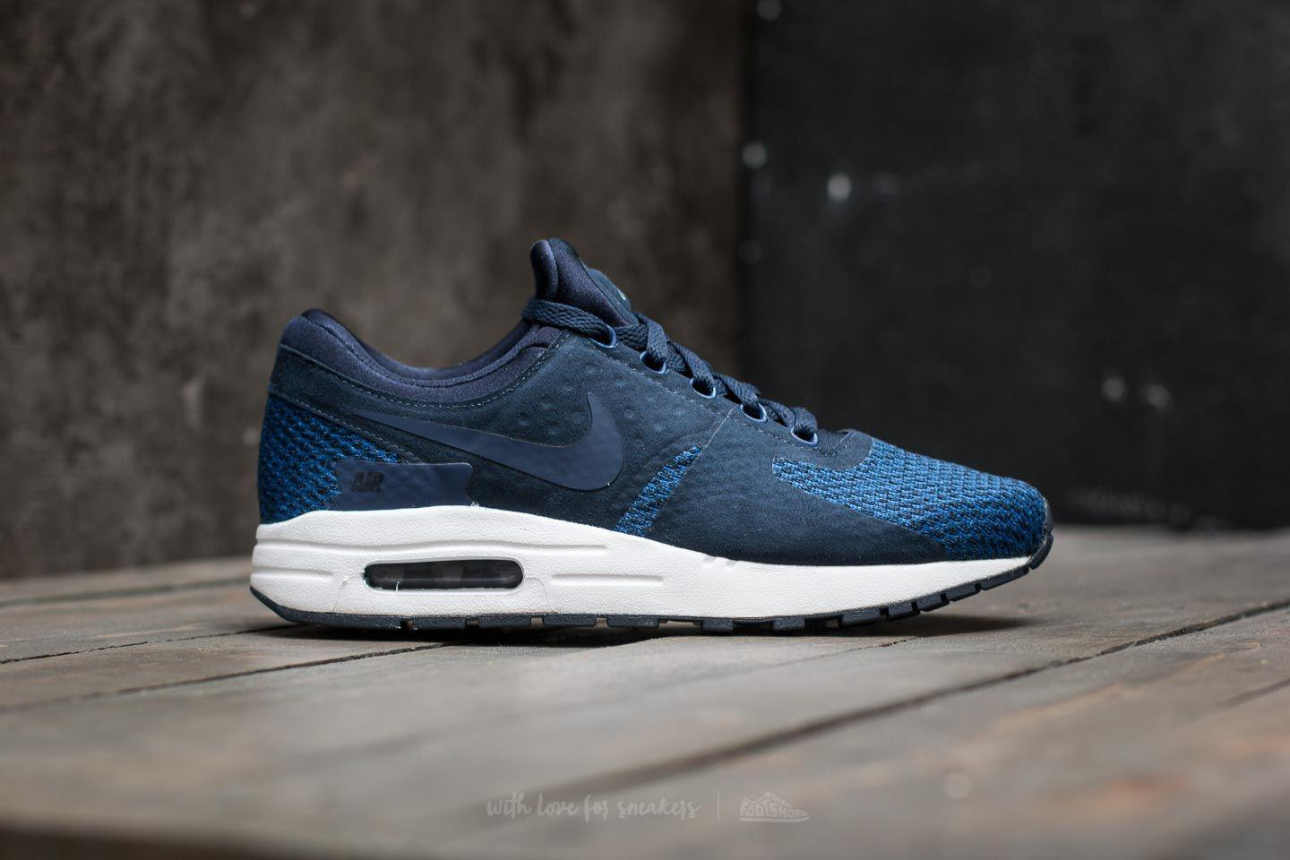 quality design 40b04 cd27e ... closeout lyst nike air max zero se gs obsidian binary blue black in blue  2e6f7 edf31