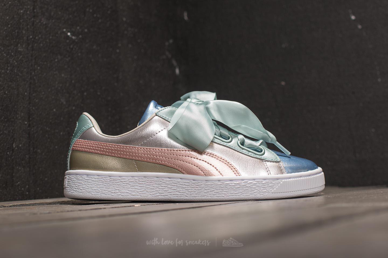 PUMA Women's Basket Heart Bauble Sneakers