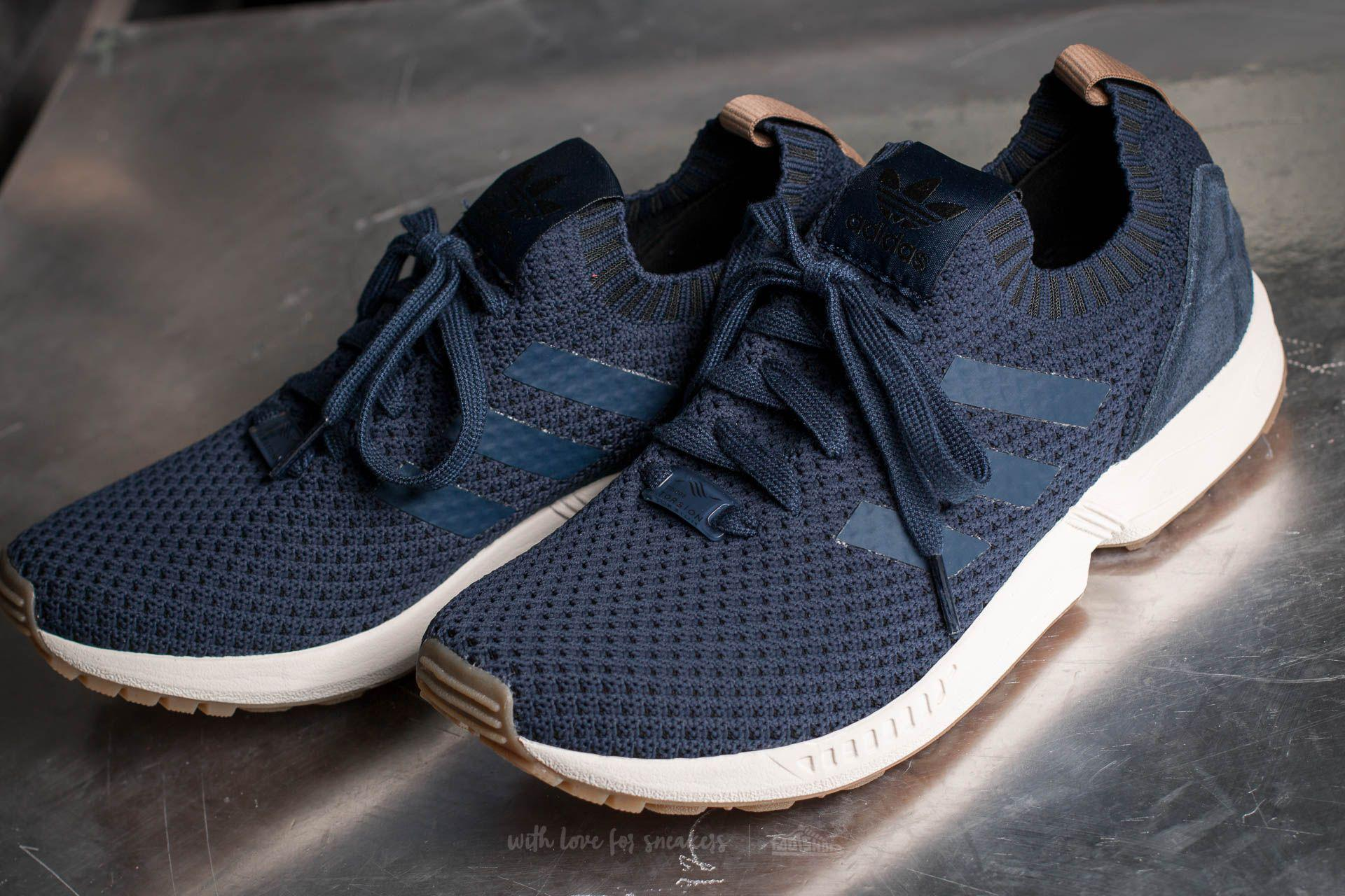 e435ad9b1dc7 Lyst - adidas Originals Adidas Zx Flux Primeknit Collegiate Navy ...