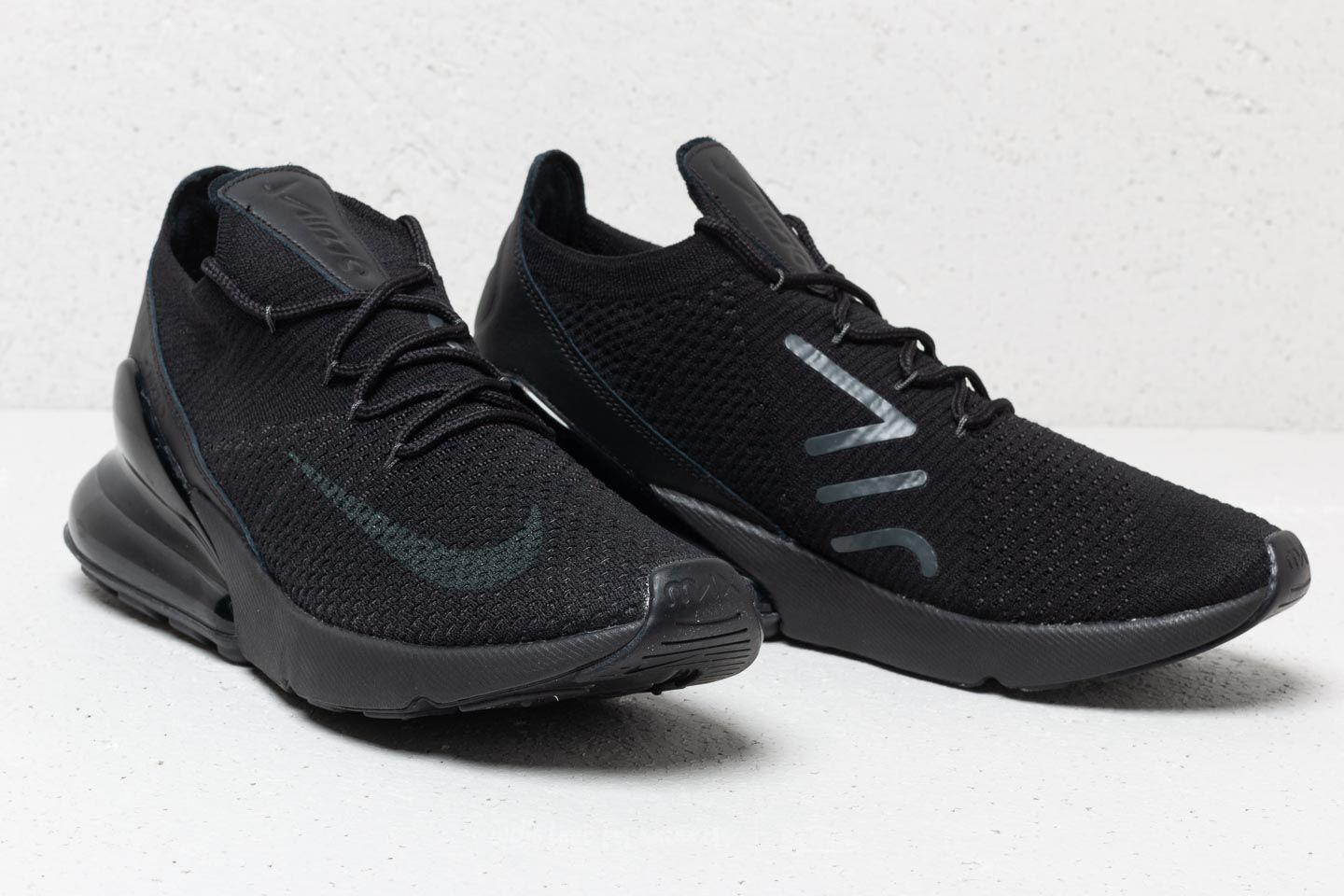 a56a41476d2a Lyst - Nike Air Max 270 Flyknit Black  Anthracite-black in Black for Men