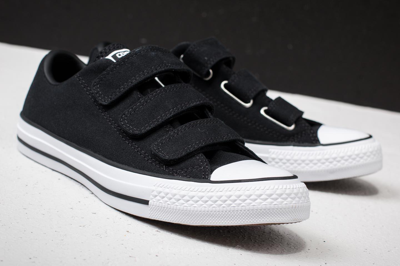 a07662b7476f Lyst - Converse Chuck Taylor All Star 3v Ox Black  Black  White in Black