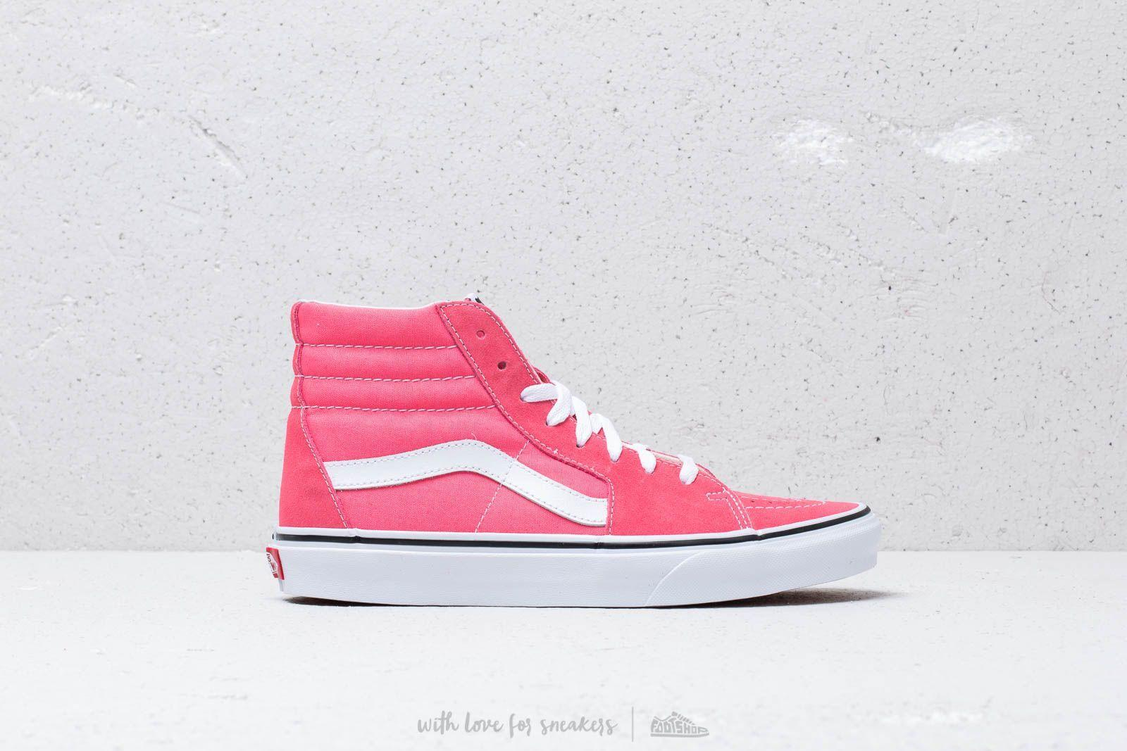 0005c311942 Vans - Sk8-hi Strawberry Pink  True White for Men - Lyst. View fullscreen