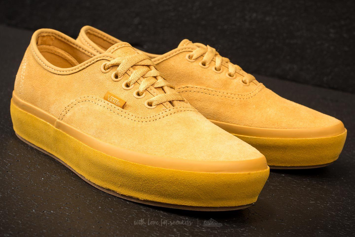 0c1645fbf8ae Lyst - Vans Authentic Platform (suede Outsole) Ochre  Tawny Olive