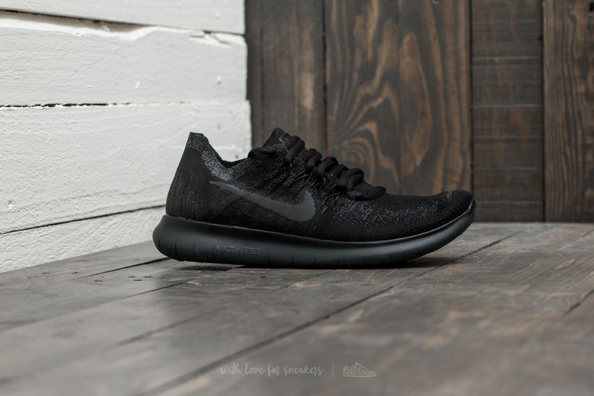 7802208a79195 Lyst - Nike Wmns Free Rn Flyknit 2017 Black  Anthracite-anthracite ...