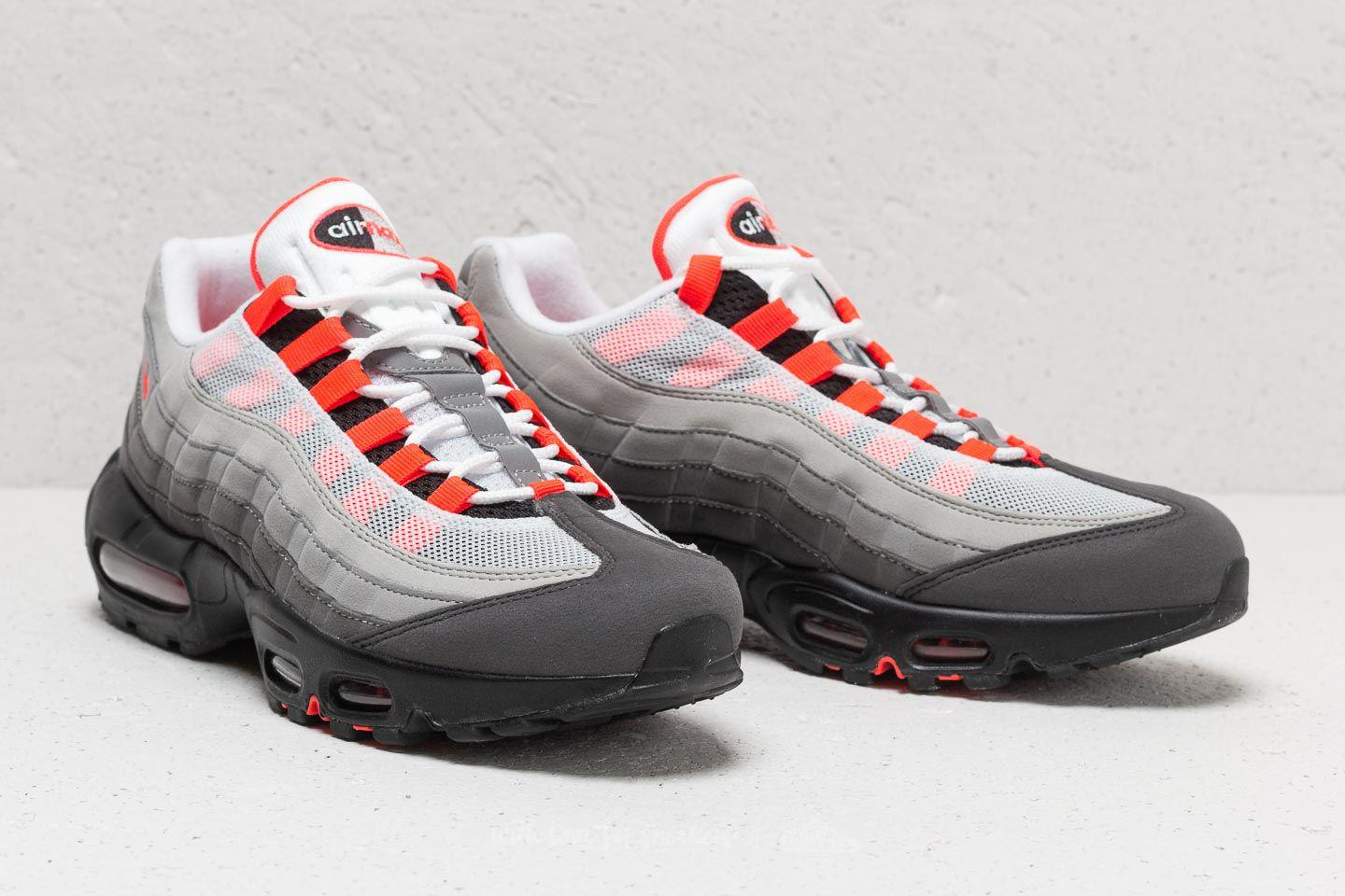 Nike - Air Max 95 Og White/ Solar Red-granite-dust for Men. View fullscreen