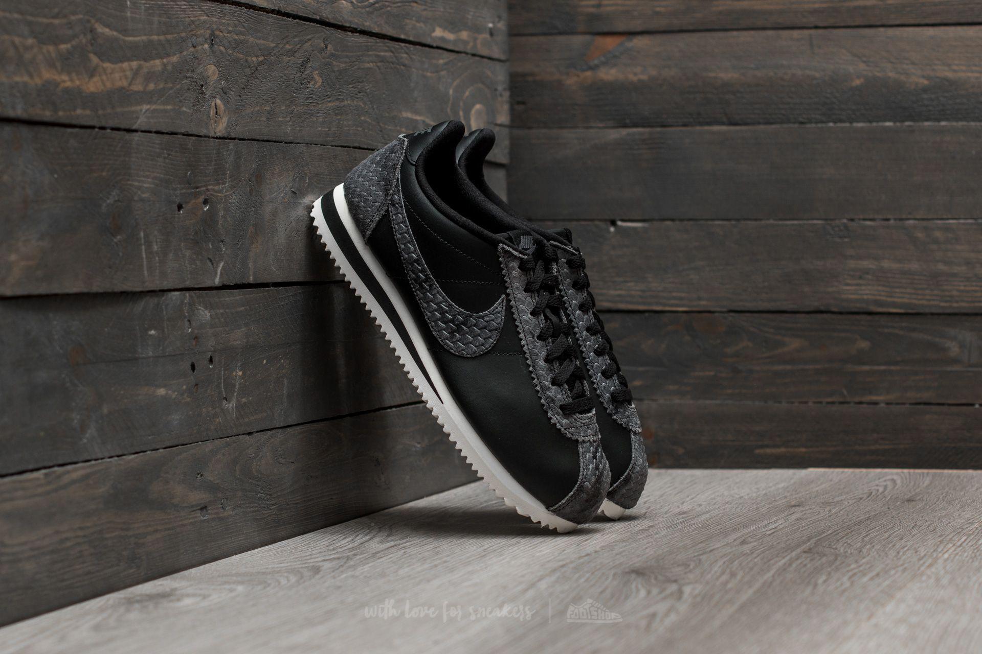 factory price 1a022 1df2b Nike Wmns Classic Cortez Premium Black  Black-sail in Black - Lyst
