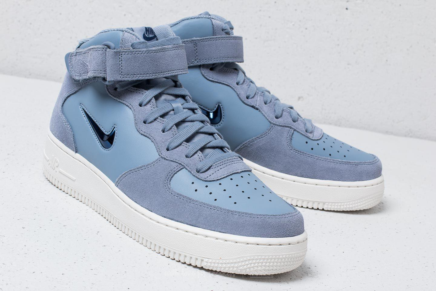 f9f55962e37 Lyst - Nike Air Force 1 Mid  07 Lv8 Ashen Slate  Blue Void in Blue ...