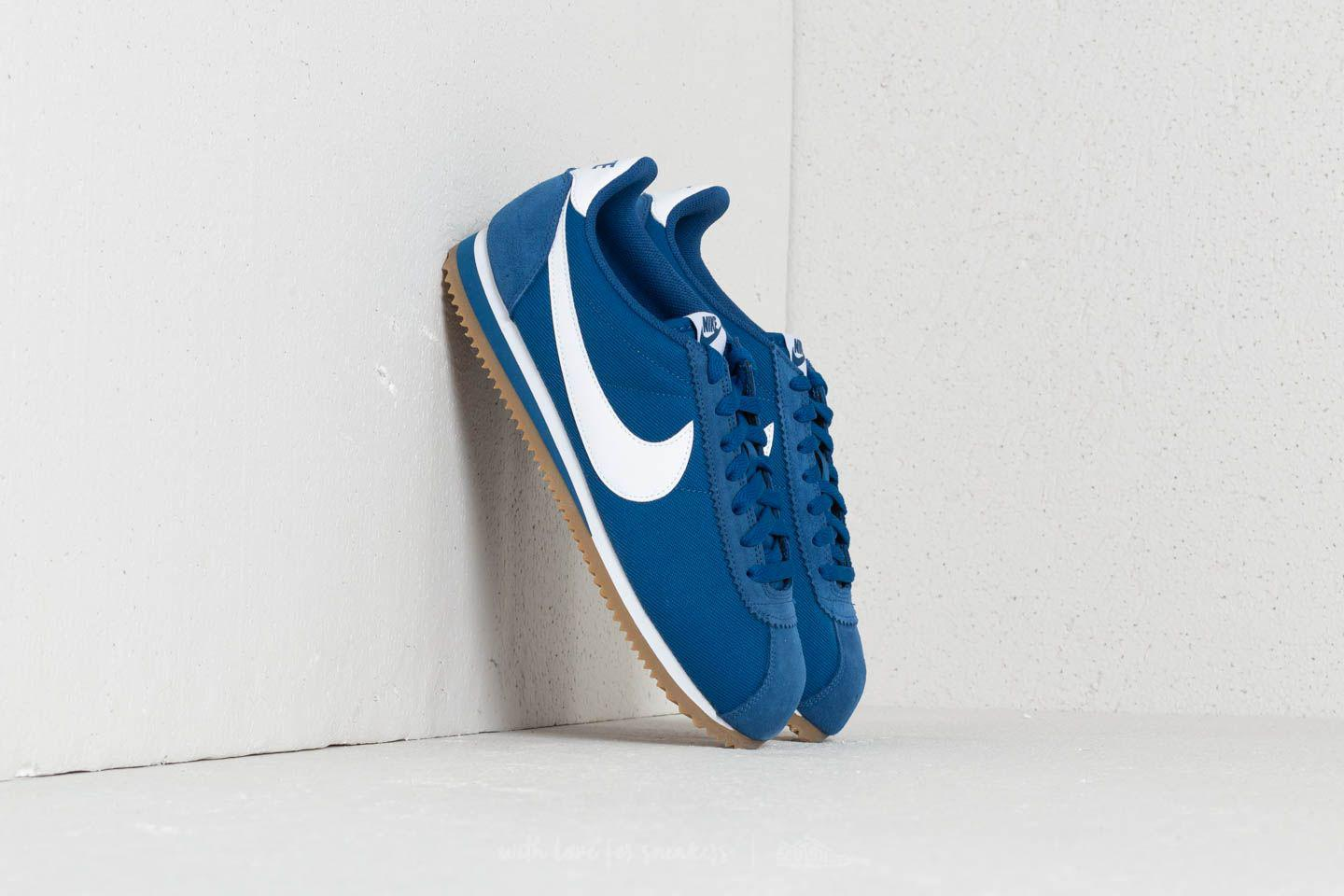 buy popular cc1af 5d38f Nike Classic Cortez Nylon Gym Blue  White-gum Light Brown in Blue ...